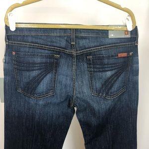 7 FAM Dojo Flare Leg Trouser Jean, NWT 32x32